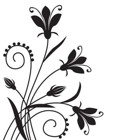 congratulatory: Black flower congratulatory decorative background