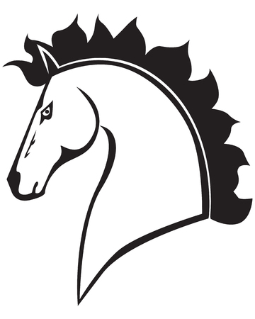 Contour image of a beautiful horses profile Stock Vector - 23211732