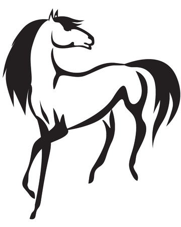Stylized image of a beautiful horses  Vector