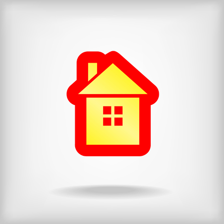 Icon of home on a gray background Illustration