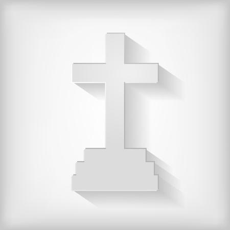 calvary: Calvary cross icon in gray background