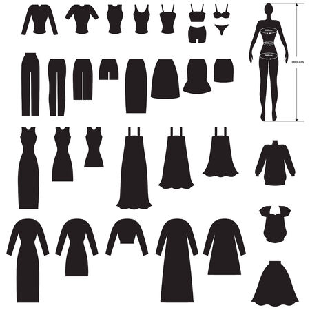 maxi dress: Set silhouette image of woman's clothing