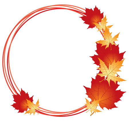 september 1: Congratulatory autumn card with maples leaves