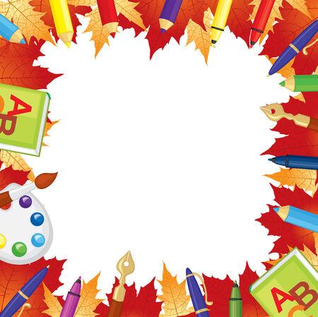 september 1: Back to school congratulatory frame Illustration