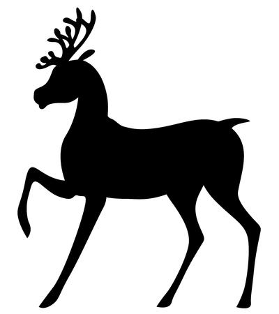 christmas deer vector. vector illustrations of silhouette cute christmas deer