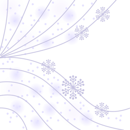 gentle background: Vector illustrations of Christmas gentle background with beads garland and snowflakes
