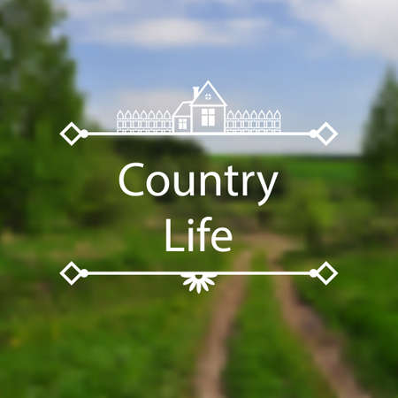 country life: Vector illustrations of Country Life background Illustration