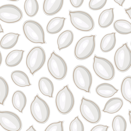Vector illustrations of white pumpkins seeds pattern seamless Vector