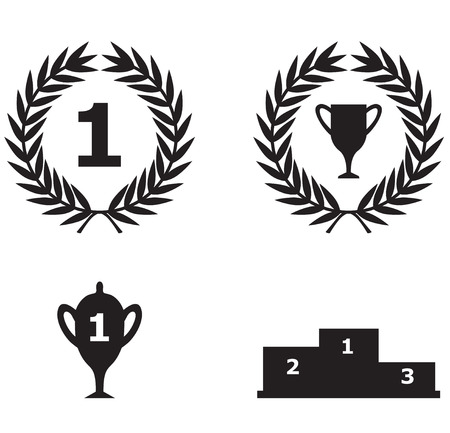 Vector illustrations of set sport triumph icon Vector