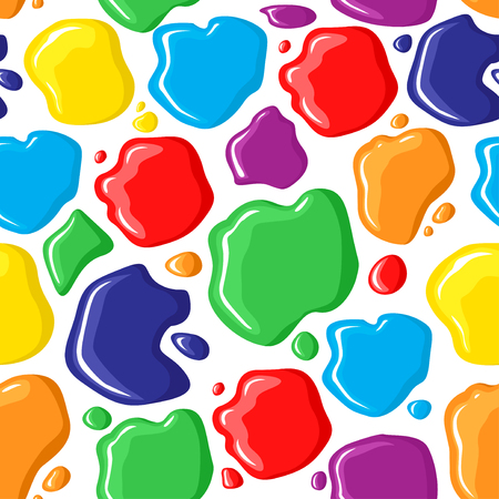bright colors: Vector illustrations of pattern seamless of multicolor paints drops and spots