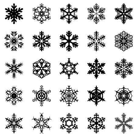 schneeflocke: Vektor-Illustrationen von Schneeflocken eingestellt