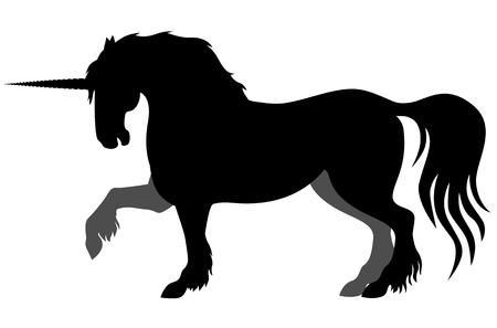 mycology:  illustrations of silhouette horned mycology  unicorn