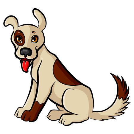 cute dog: Vector illustrations of funny cartoon cute dog