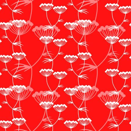 Vector illustraties van bloemen naadloos patroon