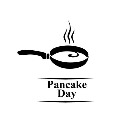 Vector illustrations of Pancake day icon
