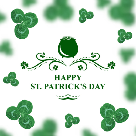 Vector illustrations of Happy St. Patrick's day card