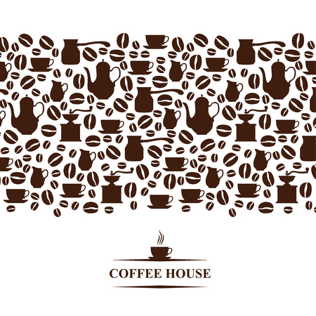 coffee house: Vector illustrations of Coffee house horizontal background Illustration