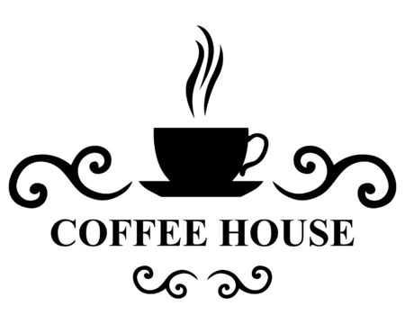 brewing house: Vector illustrations of Coffee house icon Illustration