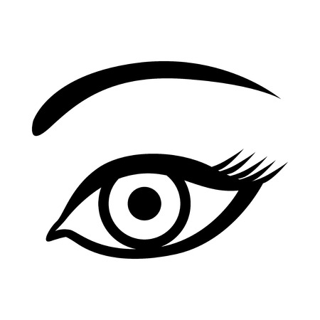 eyelids: Vector illustrations of female eye icon