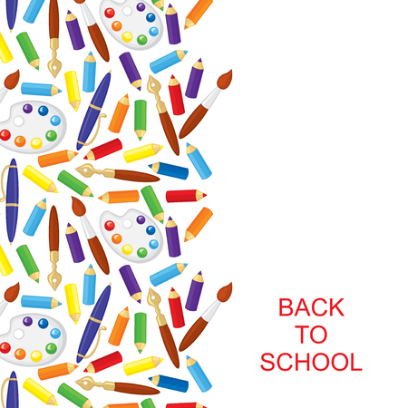 Vector illustrations of back to school congratulatory card