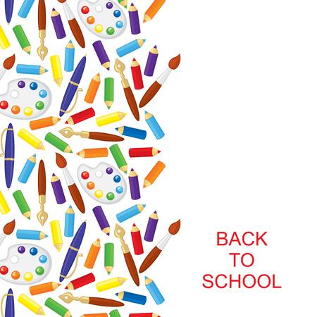 congratulatory: Vector illustrations of back to school congratulatory card