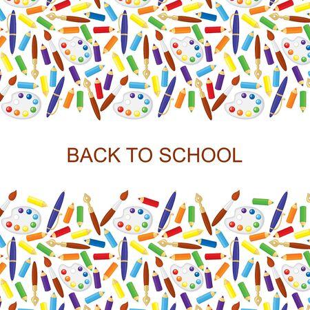 congratulatory: Vector illustrations of back to school congratulatory background