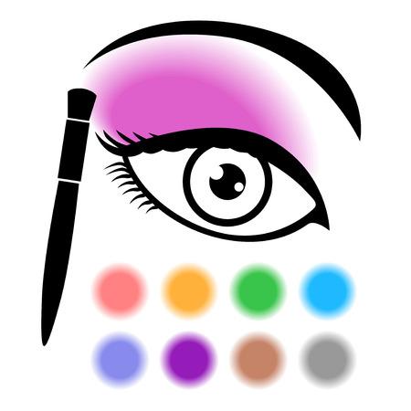 eye makeup: Vector illustrations of eye makeup icon