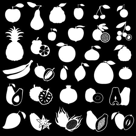 Illustrations of fruits set.