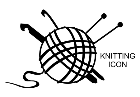 Vector illustrations of knitting icon