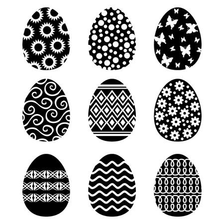 Vector illustrations of Easter decorative eggs set Иллюстрация
