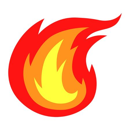 Vector illustrations of colors fire icon