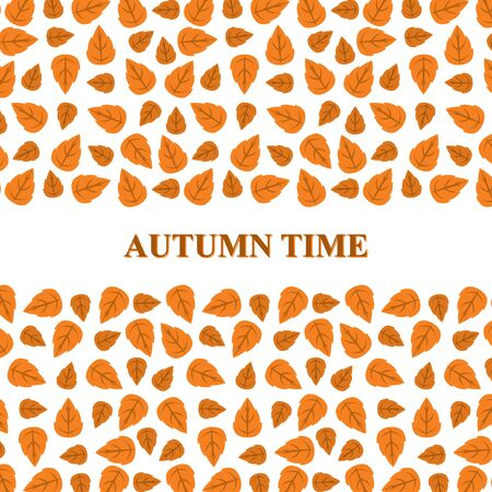 Vector illustrations of Autumn leaves greeting card Иллюстрация