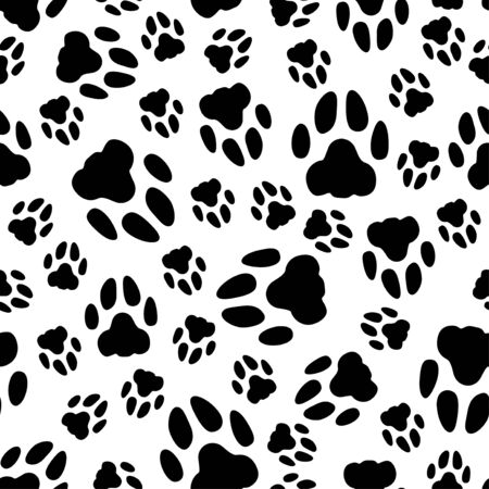 Vector illustrations of footprint pattern seamless