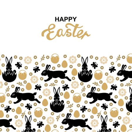 Vector illustrations of Easter greeting card Vettoriali