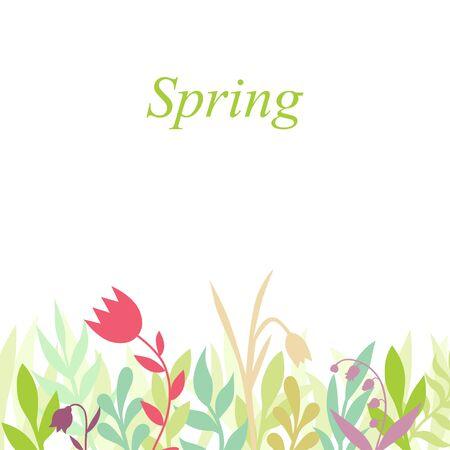 Vector illustrations of spring greeting card Vettoriali