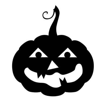Vector illustrations of Halloween horror pumpkin icon