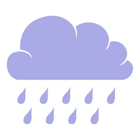 Vector illustrations of icon of clouds with drops 矢量图像