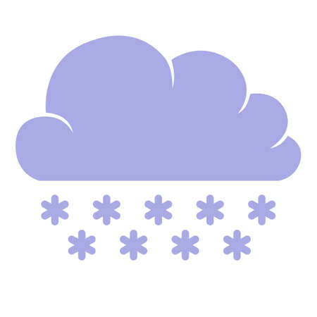 Vector illustrations of icon of clouds with snow 矢量图像