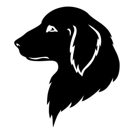 Vector illustrations of dog golden retriever head silhouette 矢量图像