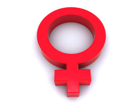 female symbol: Mirror of Venus-conventional an astronomical sign on a planet Venus and a sign on a female Stock Photo
