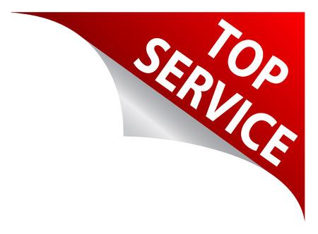 novelty: Top Service Sticker