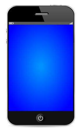 mobil: Mobil telefoon  Stock Illustratie