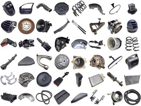 garage automobile: collection de pi�ces automobiles Banque d'images