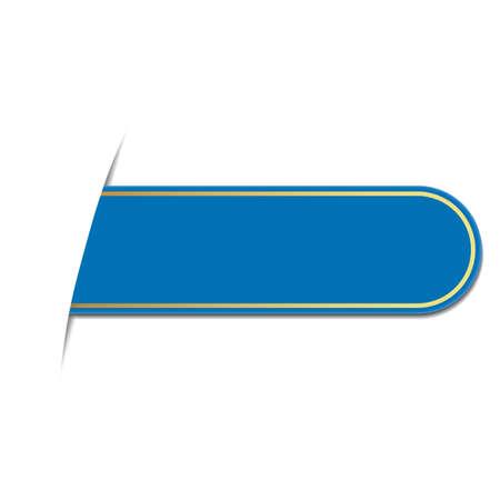 bookmark: blue bookmark Illustration