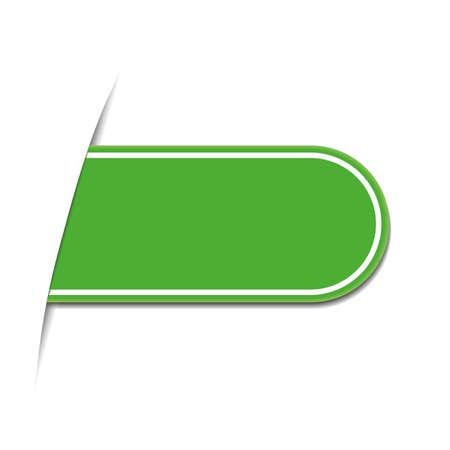 green bookmark Illustration