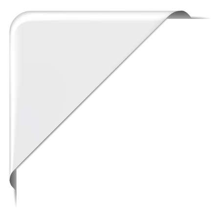 banderole: white corner label banner Illustration