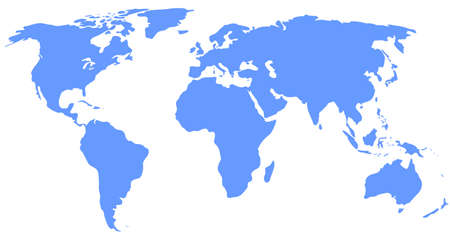 globalism: blue world map