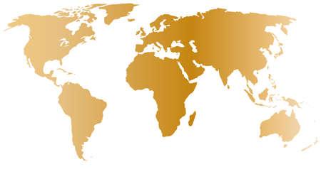 golden world map Vektoros illusztráció