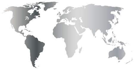 globalism: silver world map