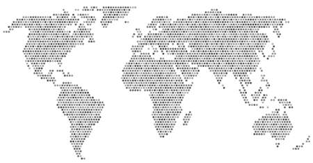 wold map: gray wold map